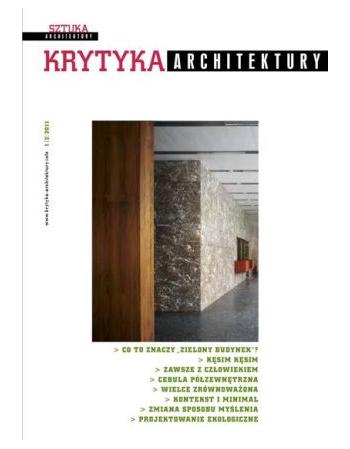 Krytyka Architektury 1(2) 2011