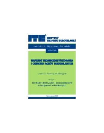 ROBOTY INSTALACYJNE Zeszyt 1. Instalacje elektryczne i piorunochronne w budynkach mieszkalnych